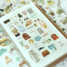 About Lovely Life Notebook Sticker Floral Succulent Cactus Sticker Adhesive Printer Paper Stickers Koreyoshhi Planner Decoration