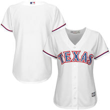 MLB Women's Texas Rangers White Home Cool Base Jersey(China)