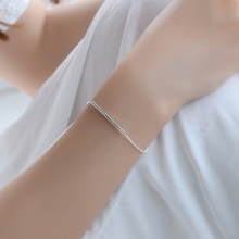 2017 Valentine Gifts Fashion Curved Bar Bracelet Geometric Bend Circle Round Bracelet Girl Jewelry KOREAN version(China)