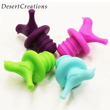 1Pc Creative Bird Design Silicone Wine Stopper Bottle Caps Wedding Gift Wine Pourer Stoppers(China)