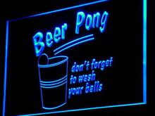 i940 Beer Pong Game Bar Pub Club Decor Neon Light Sign On/Off Switch 7 Colors 4 Sizes