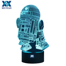 Star Wars Lamp 3D Visual Led Night Lights for Kids Robot R2-D2 Touch USB Table Lampara as Besides Lampe Baby Sleeping Nightlight