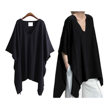 Buy Women FashionT Shirt 2018 Summer Batwing Sleeve Solid V-neck Female Casual T-shirt Loose Irregular Hem Tee Top Women Clothing for $16.97 in AliExpress store