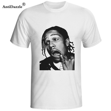 Antidazzle High Quality Summer ASAP Rocky drake t shirt Men's Short Sleeve Round Neck T-shirt Character Creative Punk T-shirt(China)