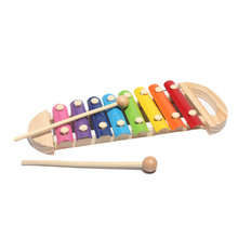 Puzzle Toys Wooden Hand Knocking Portable Octave Wood Wooden Knock Piano Early Learning Musical Toy(China)