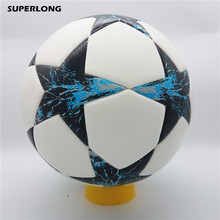 SUPERLONG 2017-2018 Champion League size 5 Football ball PU Material Professional competition train durable Soccer Ball(China)