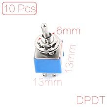 UXCELL Ac 125V 6A Spdt On-On 2 Positions 3 Pin Latching Miniature Toggle Switch 10 Pcs