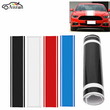 1x Car Decal Vinyl Graphics stickers Hood Dual Racing Stripe for Mustang 938(China)