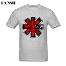 Fashion T-shirt Men Red Hot Chili Peppers Logo Men T-shirt Short Sleeve Cotton Custom Guys Clothes(China)