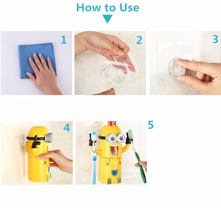 Minion Automatic Toothpaste dispenser + Brush Holder 15
