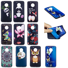 Top Quality HD Relief Soft TPU Phone Case For Motorola Moto G5 Golden Butterfly Case For Motorola Moto G5 Plus Mobile Phone Case(China)