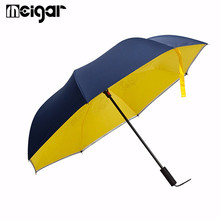 Double Layer Umbrella Rain Women Man Unisex Innovation Graphic Windproof Sports Long-handle Umbrella Car Umbrella(China)