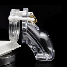 Buy Chastity Locks Stainless Steel Male Chastity Device Cock Cage Chastity Belt Penis Ring Virginity Lock Adult Game Penile lock
