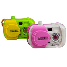 Color Ranom Camera Projection Simulation Kids Digital Camera Toy Take Photo Children Educational Plastic Gift For Baby(China)