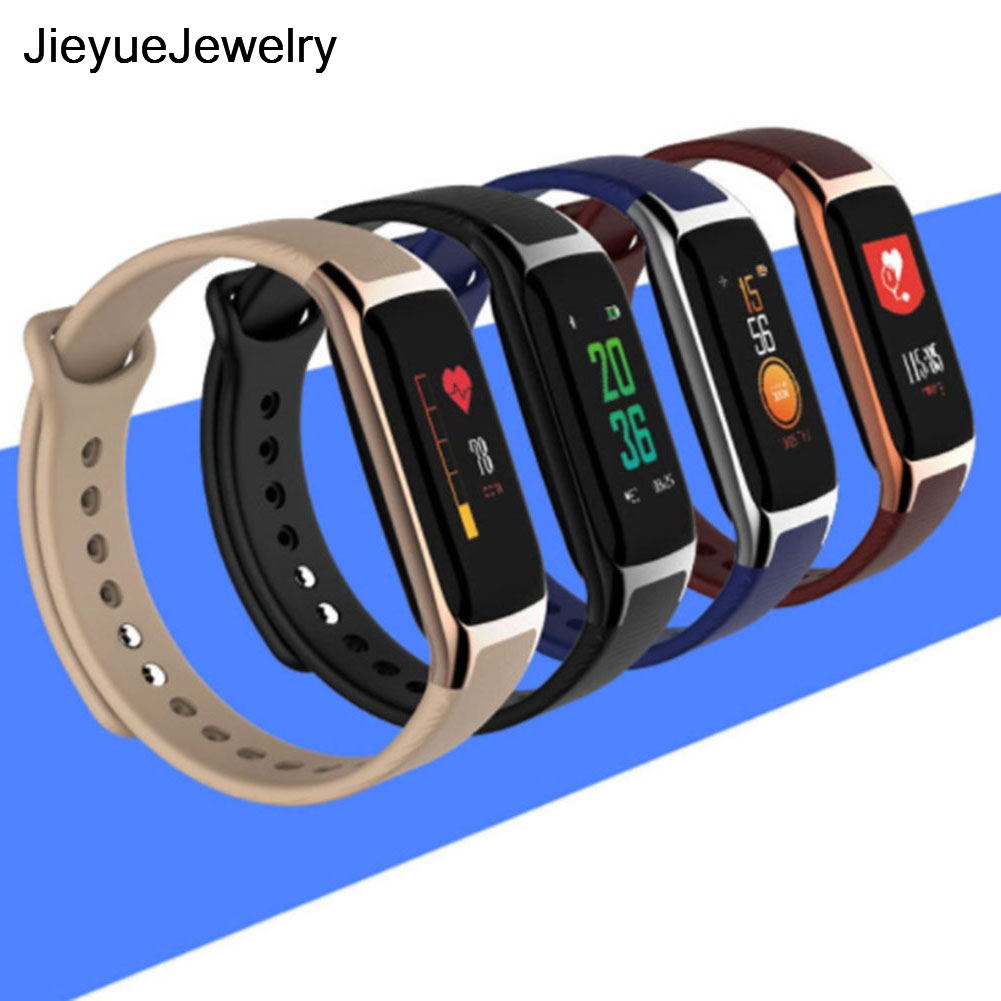 Heart Rate Monitor W18 Smart  Watch Fitness Tracker OLED Screen Wristband in stock<br>