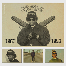 Living room home wall decoration fabric poster Eazy e retro poster vintage prints