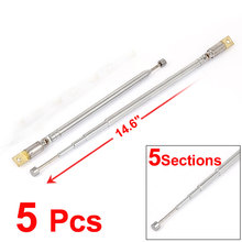 UXCELL Product Name 5Pcs 38Cm Length Rotated 360 Degree 5 Sections Telescopic Antenna Aerial Mast For Fm Radio Tv antenna |(China)