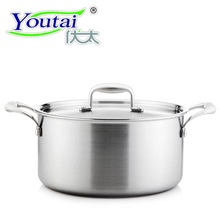 Youtai 20cm/3.7L stainless steel stock pot with steel cover five-ply domestic use for gas and cooker Soup pot with a lid(China)