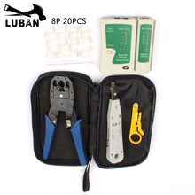 LUBAN Network Ethernet Cable Tester RJ45 Kit RJ45 Crimper Crimping Tool Punch Down RJ11 Cat5 Cat6 Wire Line Detector 8P8C RJ45(China)