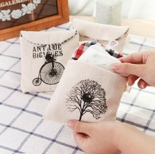 LASPERAL 1PS Sanitary Towel Storage Bag Portable Travel Set Cotton Bag Lovely  Small Tree Design Storage Organizer 12cmx12cm
