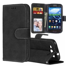 Matte Leather Case For Samsung Galaxy S3 Case Wallet Flip Cover For Samsung Galaxy S3 Neo GT-i9300 Duos GT-I9300i I9300 GT-I9300