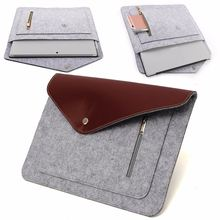 Felt Laptop Storage Bag Leather Case Laptop Sleeve for 365*270mm 13 inch Notebook Protective Carrying Sleeve Case Cover Shell