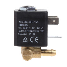 "Cannula N/C AC 230V G1/8"" Brass Steam Air Generator Water Solenoid Valve Coffee(China)"