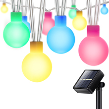 Kohree Solar Powered 50 LED Globe String Fairy Lights Christmas Lights for Garden, Patio, Yard, Multi-color(China)