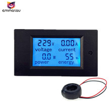 Digital AC Voltage Meters 100A/80~260V Power Energy Monitor Voltmeter Ammeter Watt Amps Volt Tester With Current Transformer(China)