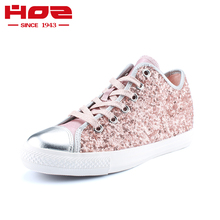 Original HOZ Element Glitter low women's classic Skateboarding Shoes for women Sequins canvas shoes increase within(China)
