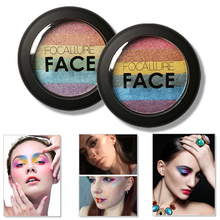 Women Shimmer Highlighter Powder Face Brightener Facial Makeup Rainbow Colors