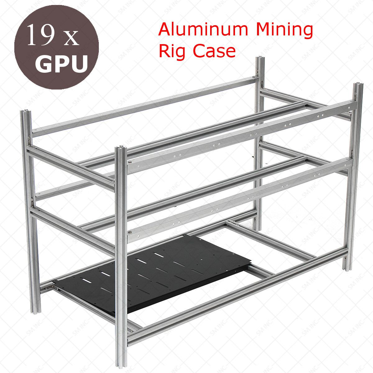 Stackable Open Air Mining Rig Frame Miner Case 19 GPU ETC BTH 3 Power Supply New Computer Mining Case Frame Server Chassis