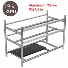 Stackable Open Air Mining Rig Frame Miner чехол для 19 GPU и т. д. BTH 3 блок питания новый компьютер Mining Case Frame Server Chassis(China)