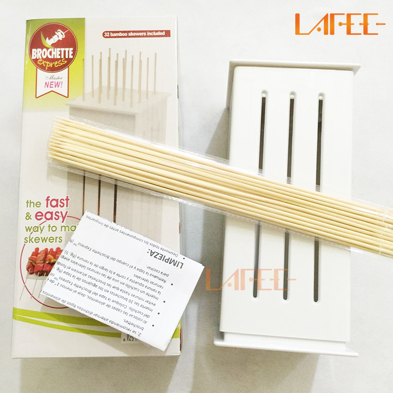 BBQ Kabob Maker Set with 32 Bamboo Skewers