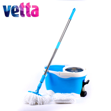 2 mopheads  magic aluminium handle easy to use mop VETTA with bucket HDR-MO14B; 993-214