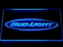001 Bud Light Beer Bar Pub Club NR LED Neon Sign with On/Off Switch 7 Colors 4 Sizes to choose