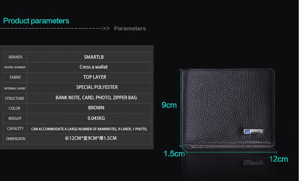 محفظة جلدية ذكية مضادة للضياع مع جهاز تتبع مربوط بالهاتف عبر البلوتوث 9