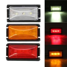 1 Pcs 24V 3LED Car Side Marker Trailer Light Rear warning Light Waterproof Caravan Signal Lamp(China)