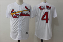 MLB Men's St. Louis Cardinals 4 # MOLINA Player Edition Jersey, Baseball Jersey MLB Jersey Free Shipping(China)