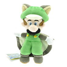 "9"" 22cm Super Mario Plush Toys Musasabi Flying Squirrel Luigi Plush Toys Soft Stuffed Toys Figures Toy Plush Doll for Kids Gift(China)"