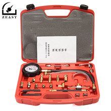 114 Car Fuel Injection Pump Gasoline Tester Manometer Pressure Kit Gauge Tool Motor Auto Petrol Gas Engine Cylinder Compression(China)