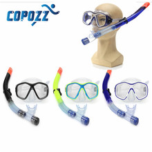 Copozz 16 x 8cm 3 Colors Adult PVC Snorkel Combo Mask And Snorkel Set 46.5cm Breath Tube Snorkelling Diving Holiday NEW Arrival
