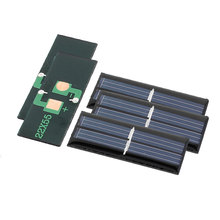 UXCELL 5 Pcs 1V 0.08W Diy Polycrystallinesilicon Solar Panel Power Cell Battery Charger 55Mm X 22Mm