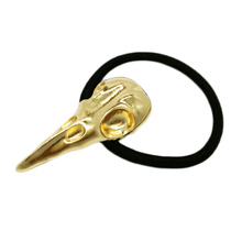 Jewelry Punk Alloy Elastic Bands Hair Accessories Crow Nest Bird Head Skull Tie Holder(China)