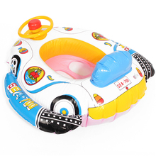 PVC Baby Float Swimming Ring Inflatable Car Steering Wheel Seat Float Kids Trainer Toy Pool & Accessories(China)