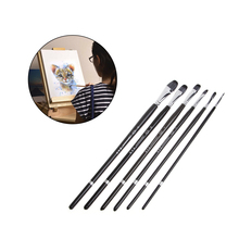 6Pcs/set Wolf hair Art Painting Brushes Oil Acrylic Watercolor Drawing Craft DIY Kid Paint Brushes Tool Kit(China)