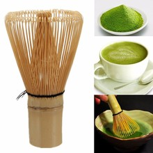 Natural White Bamboo Chasen Matcha Whisk Prearing For Green Tea 100 Matcha Powder Tea Brush Tea Accessories Kitchen Tools(China)