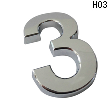 New 5cm House Door Address Number Digits Numeral Plate Plaque Sign Room Gate Badge Sticker With Self-adhesive Sticker(China)