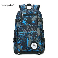 longmiao Men Oxford Camouflage Backpack Preppy Style Camo School Backpacks for Teenagers UK Flag Large Capacity Travel Bags(China)