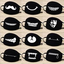 Buy 2018 New Fashion Cartoon Pattern Solid Black Cotton Face Mask Cute 3D Print Half Face Mouth Muffle Masks Outdoor Cycling Mask for $1.00 in AliExpress store